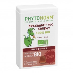 Photo Dragonnettes Energy goût Cola 40g Bio Phytonorm Junior