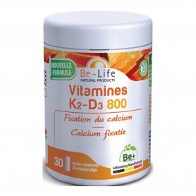 Photo Vitamines K2-D3 800 30 gélules Be-Life