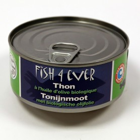 Thon Listao à l'huile d'olives 160g Fish4Ever