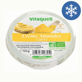 Photo Crème Amandes Curry Bio 125g Vitaquell