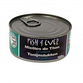 Miettes de thon Listao au naturel 160g Fish4Ever