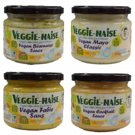 Photo Lot de 4 sauces Vegan Veggie-Naise