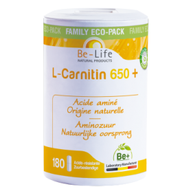 Photo L-Carnitin acide aminé 180 gélules Be-Life