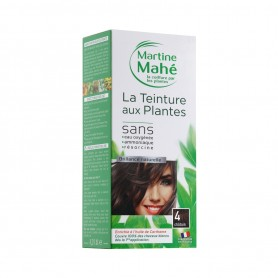 Photo Teinture n°4 Châtain 125ml Martine Mahé