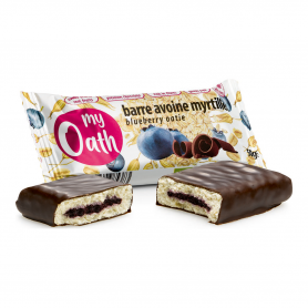 Photo Barre Avoine-Myrtille enrobée de chocolat Bio 50g My Oath