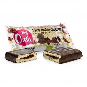 Photo Barre Avoine-Chocolat enrobée de chocolat Bio 50g My Oath
