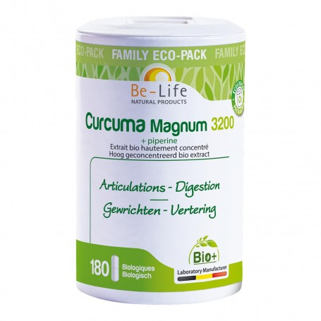Photo Curcuma Magnum 3200 + pipérine 180 gélules Bio Be-Life
