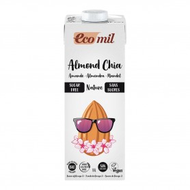 Photo Lait Amandes-Chia Nature 6x1L Bio Ecomil