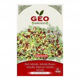 Photo Azuki Rouge - Graines à germer bio - 90g Geo