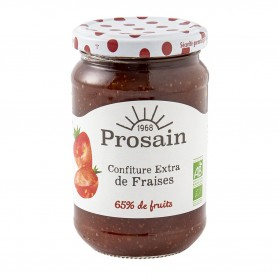 Photo Confiture extra de fraises 350g bio Prosain