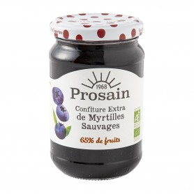 Photo Confiture extra de myrtilles 350g bio Prosain
