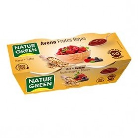 Photo Dessert Avoine Fruits Rouges 2x125g Bio Naturgreen