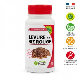 Photo Riz rouge 250mg 120 gél. MGD