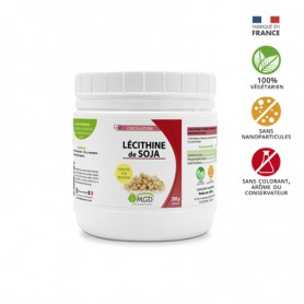 Photo Lécithine de soja 97% granules 200g MGD