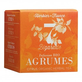 Photo Infusion Bigarade - Agrumes - 15 mousselines bio L'Herbier de France