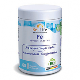 Photo Fe (VIT. B9 et B12) 60 gélules Be-Life