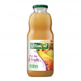 Photo Cocktail 5 fruits 1l bio Vitamont