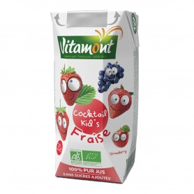 Photo Cocktail kid's fraise Tetra 20cl bio Vitamont