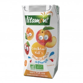 Photo Cocktail kid's multifruits de France Tetra 20cl bio Vitamont