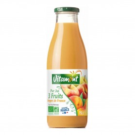 Photo Pur jus 3 fruits du verger de France 75cl bio Vitamont
