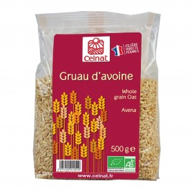 Photo Gruau d'avoine 500g bio Celnat