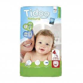 Photo Couches Tidoo Nature T4/L 7-18kg x50 Tidoo