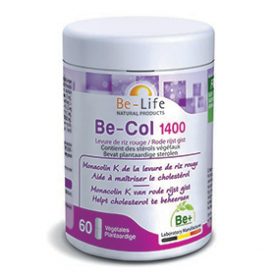 Photo Be-Col 1400 (Levure de riz rouge) 60 gélules Be-Life