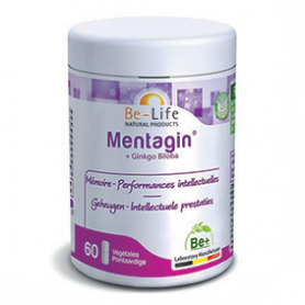 Photo Mentagin + ginko biloba 60 gélules Be-Life