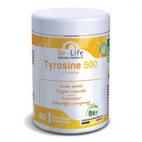 Photo Tyrosine 500 L-tyronsine 60 gélules Be-Life