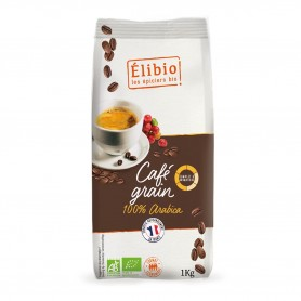 Photo Café grain 100% arabica 1kg bio Elibio