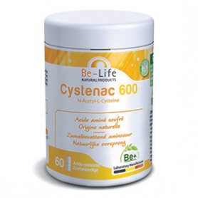 Photo Cysténac 600 : acide aminé soufré 60 gélules Be-Life