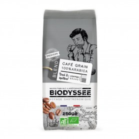 Photo Café grain 100% arabica médium 250g bio Biodyssée