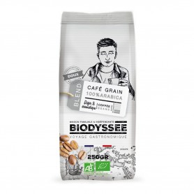 Photo Café grain 100% arabica doux 250g bio Biodyssée