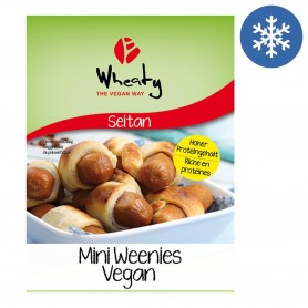 Photo Mini Weenies à base de Seitan vegan 200g bio Wheaty