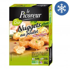 Photo Nuggets de volaille 100% filet de volaille 200g bio Le Picoreur