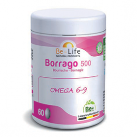 Photo Borrago 500 bourrache Bio 60 capsules Be-Life