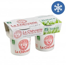 Photo Yaourt chèvre nature 2x125g bio La Chèvrerie
