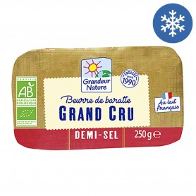 Photo Beurre de baratte cru demi-sel 250g bio Grandeur Nature