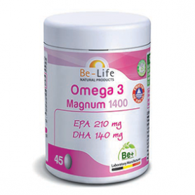Photo Oméga 3 magnum 1400 45 capsules Be-Life