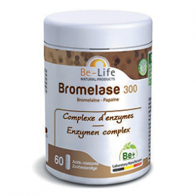 Photo Bromelase 300 (bromelaïne - papaïne) 60 gélules Be-Life