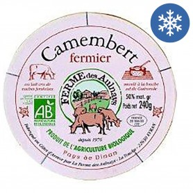Photo Camembert lait cru Aulnays 240g bio Aulnays