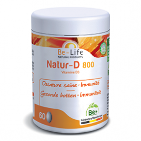 Photo Natur-D 800 (Vitamine D3) 200 capsules Be-Life