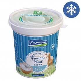 Photo Fromage blanc brebis 0%  400g bio Biochamps