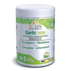 Photo Garlic 2000 (ail désodorisée) 60 gélules Bio Be-Life