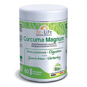 Photo Curcuma Magnum 3200 + pipérine 60 gélules Bio Be-Life