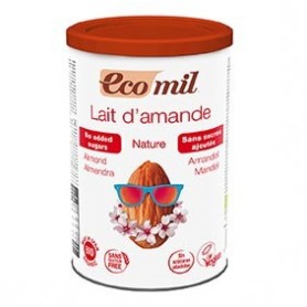 Photo Lait Amandes Instantané Nature 400g Bio Ecomil