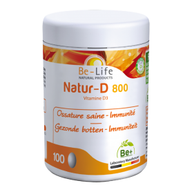 Photo Natur-D 800 (Vitamine D3) 100 capsules Be-Life